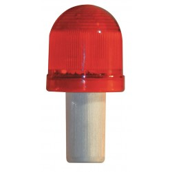 Tapco - 3393-00002 - Cone Light, 2 Head Dia., Red, Battery