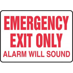 Accuform Signs - MEXT921VS - Emergency Sign Emergency Exit Only 10x14 Self Adhesive Accuform Mfg Inc, Ea