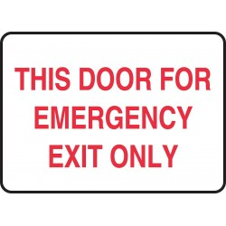 Accuform Signs - MEXT934VP - Emergency Sign Door For Emergency 10x14 Plastic Accuform Mfg Inc, Ea