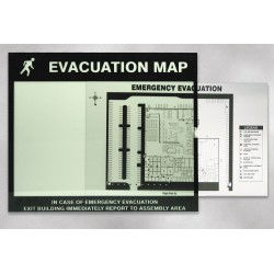 Accuform Signs - DTA202 - Map Holder, Fits 8 1/2 x 11 In Map