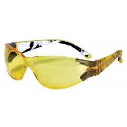 Body Glove - 90380 - V-Line Scratch-Resistant Safety Glasses, Yellow Lens Color