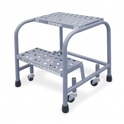 Cotterman - 1002N1818A6E10B3C1P1 - Steel Rolling Step, 20 Overall Height, 450 lb. Load Capacity, Number of Steps: 2