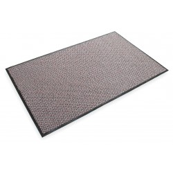 "3M - 20529 - 3M Anti-Slip Entryway Heavy Traffic Carpet Mat, 3'W x 5'L x 1/3"" Thick, Gray/Red , EA"