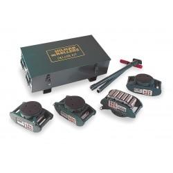Hilman Rollers - KRS-15-SLP - 15-ton Deluxe Ft Seriesroller Kit Swivel Lock