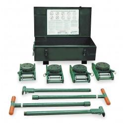 Hilman Rollers - KRS-60-SLP - 300-k60fp 60ton Deluxe Riggers Kit Swivel Lock