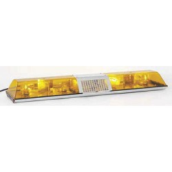 PSE Amber - 6004HAW - Amber Low Profile Lightbar, Halogen Lamp Type, Permanent Mounting, Number of Heads: 4