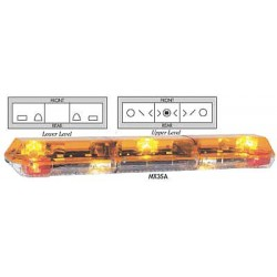 PSE Amber - 7003HAW - Amber Dual Deck Lightbar, Halogen Lamp Type, Permanent Mounting, Number of Heads: 7