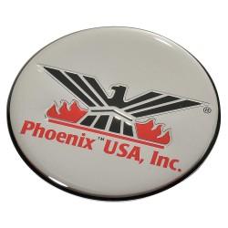 Phoenix Textile Industries - CLPH2 - Logo, 2 In, Silver