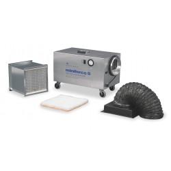 Omnitec Design - MINIFORCE II - HEPA Negative Air Machine, 1/5 HP, 115 Voltage, 3.2 Amps, 350 to 425 cfm