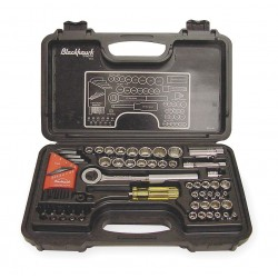 Blackhawk / Stanley - 9753-B - 65 Piece 1/4&3/8 Drive Socket Set Sae/metric 12p