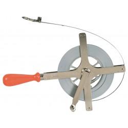 Lufkin - C2276ME - 100 ft. Steel SAE/Metric Surveyors Tape Measure, Chrome