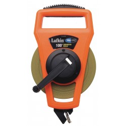 Lufkin - PS1806DN - 100 ft. Steel SAE/Metric Long Tape Measure, Black/High Visibility Orange
