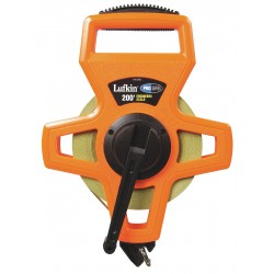 Lufkin - PS1808DN - 200 ft. Steel SAE Engineers Long Tape Measure, Black/High Visibility Orange