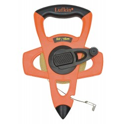 Lufkin - FM015CME - 50 ft. Fiberglass SAE/Metric Long Tape Measure, Black/High Visibility Orange