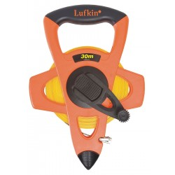 Lufkin - FM030CM - 30m Fiberglass Metric Long Tape Measure, Black/High Visibility Orange