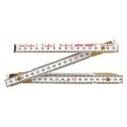 Lufkin - 1066DMN - Folding Wood Rule, 78 In, English/Engineer