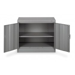 Tennsco - 1430 GRAY - Storage Cabinet, Medium Gray, 30 Overall Height, Unassembled