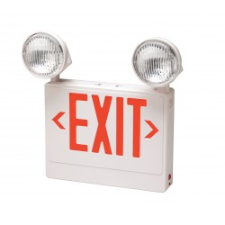 Big Beam - 2DZF-PAR-RW - Emergency Exit Light Big Beam Emergency Systems High Intensity Tungsten Red White 120/277 Volt(s) 14 1/8 In Hx12 1/8 In Wx4 1/8 In D Thermoplastic Ul-listed 1.5 Hour 6 Watts, Ea