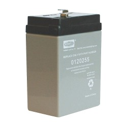 Hubbell - 0120255 - Hubbell-Dual-Lite 0120255 Sealed Lead Acid Battery, 6V, 4.5A