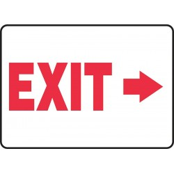 Accuform Signs - MADM929VP - Emergency Sign Exit Right 10x14 Plastic Accuform Mfg Inc, Ea