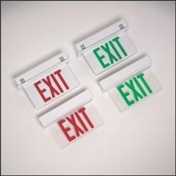 Big Beam - ERXL1WRCR - Emer/exit Light Single Face/edge Lit/ceiling Recessed Big Beam Light-emitting Diode Red 120 Volt(s) Steel Ul 924, Ea