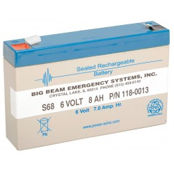 Big Beam - S68 - ABS Battery, Voltage 6, Battery Capacity 7Ah, Faston Terminal Type