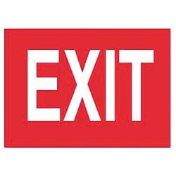 Accuform Signs - 219098-10X14P - Exit and Entrance, No Header, Plastic, 10 x 14, With Mounting Holes, Not Retroreflective
