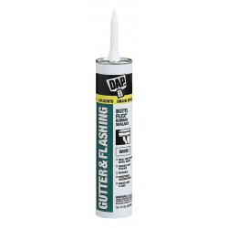Dap - 18188 - Aluminum Gray Gutter and Flashing Sealant, Hybrid, 10.1 oz. Cartridge