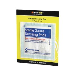 American Red Cross - FAE-5000 - Gauze Dressing Pad, No, Gauze, PK10