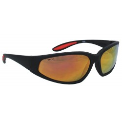 Smith & Wesson - 19858 - Smith Wesson 38 Special Scratch-Resistant Safety Glasses, Red Mirror Lens Color
