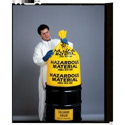 Other - 3WNA6 - 55 gal. Yellow Hazardous Material Bag, Contractor Strength Rating, Flat Pack, 24 PK