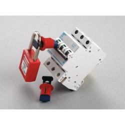 "Brady - 90848 - Circuit Breaker Lockout, Pin-In, Standard, Red, 9/32"" Padlock Shackle Max. Dia., 6 PK"
