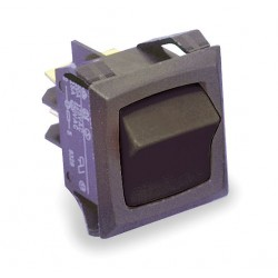 Carling - RGSCA211-RB-B-O - Rocker Switch, Contact Form: SPST, Number of Connections: 2, Terminals: 0.250 Quick Connect Tab