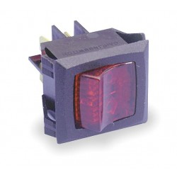 Carling - LRGSCK611-RS-BO/125N - Lighted Rocker Switch, Contact Form: DPST, Number of Connections: 4, Terminals: 0.250 Quick Connect