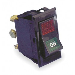 Carling - LTILA54-6S-BL-RC-NBL/125N - Lighted Rocker Switch, Contact Form: SPST, Number of Connections: 3, Terminals: Screw