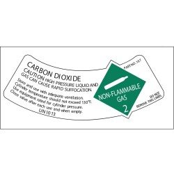 Electromark - Y619133 - Gas Cylinder Shoulder Label, PK10
