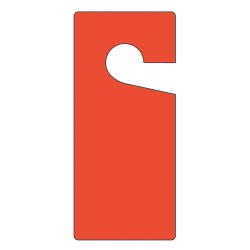 Accuform Signs - TAD831 - Blank Tag, Red, Height: 9 x Width: 4, 10 PK