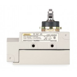 Omron - ZE-Q21-2S - Plunger, Cross Roller General Purpose Limit Switch; Location: Top, Contact Form: SPDT, Standard Move