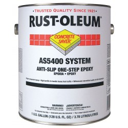 Rust-Oleum - AS5479402 - Flat Epoxy Ester Anti-Slip Floor Coating, Black, 1 gal.
