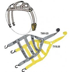 B/A Products - 38-TYS20 - Basket Strap, Ratchet, 6ft. x 2In., 1665lb.