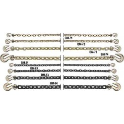 B/A Products - 1112G715 - Binder Chain With Clevis Grab Hooks Grade 70 Chain Size 1/2 Inches By 15 Feet, Ea
