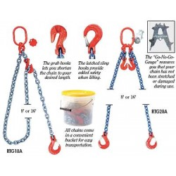 B/A Products - G8-6932162 - 16 ft. Painted Alloy Steel Chain Sling with DOG Sling Type