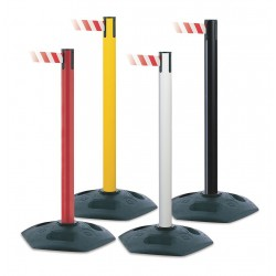 Tensator - 886-33-STD-NO-YEX-C - Barrier Post with Belt, PVC, Black