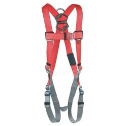Protecta - 1191201 - PRO Full Body Harness with 420 lb. Weight Capacity, Red/Gray, M/L