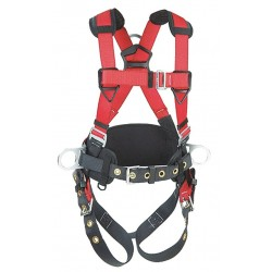 Protecta - 1191208 - PRO Full Body Harness with 420 lb. Weight Capacity, Red/Gray, S