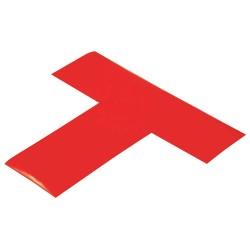 Mighty Line - REDT - Floor Marking Tape, Solid, T, 2 Width, 100 PK