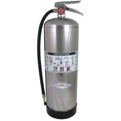 Amerex - 240 - Water Fire Extinguisher Fire Extinguisher with 2.5 gal. Capacity and 55 sec. Discharge Time