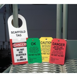 Accuform Signs - TSS103PTP - Plastic, This Scaffold Has Been Erected to Meet Federal/State OSHA Standards and Is Safe For All Cra