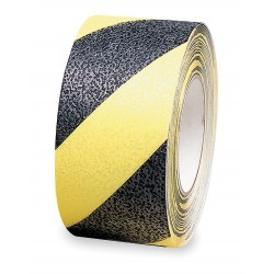 Brady - 78147 - Brady 2 Black Polyester Anti-Skid Tape DIAGONAL WARNING STRIPES, ( Roll )
