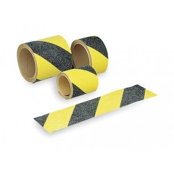 Brady - 78148 - Brady 3 Black Polyester Anti-Skid Tape DIAGONAL WARNING STRIPES, ( Each )